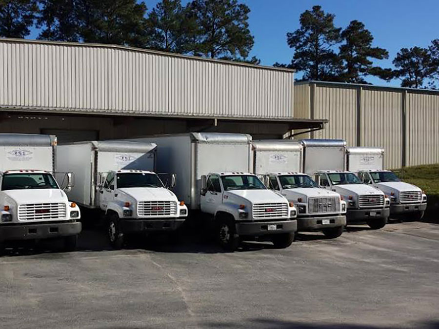 RSI Commercial Laundry Truck Fleet servicing the Beaufort, Charleston, Hilton Head, Brunswick, Savannah, and Statesboro areas.